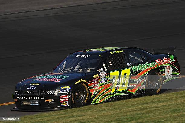 McLeod driver of the Ford on track during practice for the NASCAR XFINITY Series VysitMyrtleBeachcom 300 at Kentucky Speedway on September 23 2016 in...