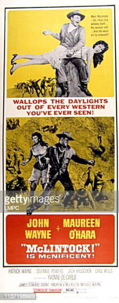Mclintock poster Maureen O'Hara John Wayne 1963