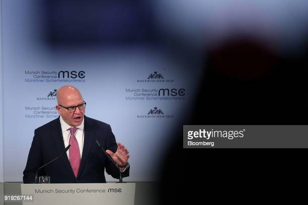 HR McMaster national security advisor speaks at the Munich Security Conference in Munich Germany on Saturday Feb 17 2018 From Friday until Sunday...