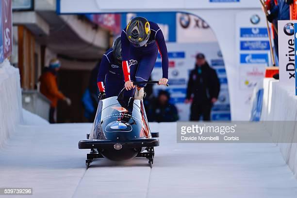 McNEILL Mica Deratt Natalie in action during the start BMW IBSF World Cup Bob Skeleton 2015/2016 St Moritz Swiss