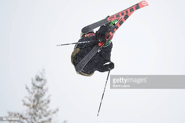 McRae Williams catches some air on his third run during Men's Ski Slopestyle at Winter X Games 2016 at Buttermilk Mountain on January 31 2016 in...