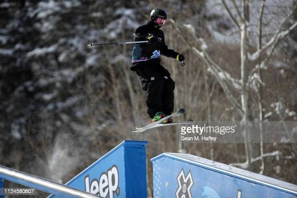 McRae Williams competes in the Men's Ski Slopestyle elimination during qualifying at the 2019 Winter X Games on January 24 2019 in Aspen Colorado