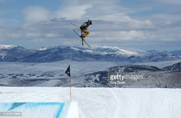 Mcrae Williams of the United States competes in the qualification round of the Men's Ski Big Air at the FIS Freeski World Championships on February...