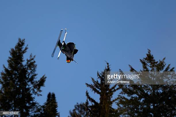 McRae Williams rides during the men's ski slopestyle final X Games Aspen at Buttermilk on Friday January 25 2014
