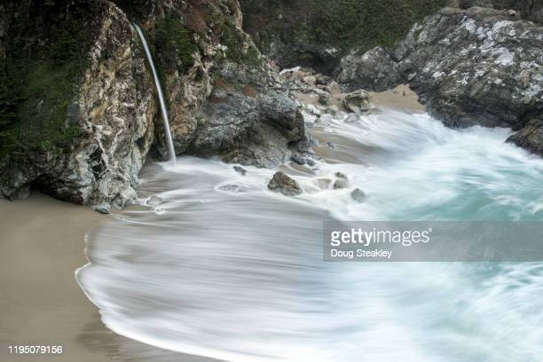 mcway fall in big sur, california - mcway falls stock pictures, royalty-free photos & images
