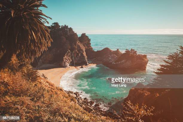 McWay falls are part of the Julia Pfeiffer Burns Sate Park in Big Sur California USA
