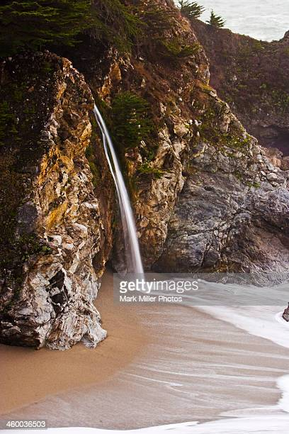 mcway falls at big sur, california, usa - mcway falls stock photos and pictures