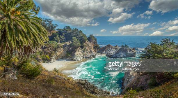 mcway falls at pfeiffer burns, big sur, california - mcway falls stock pictures, royalty-free photos & images