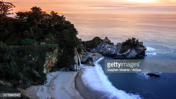 mcway falls at sunset - mcway falls stock pictures, royalty-free photos & images