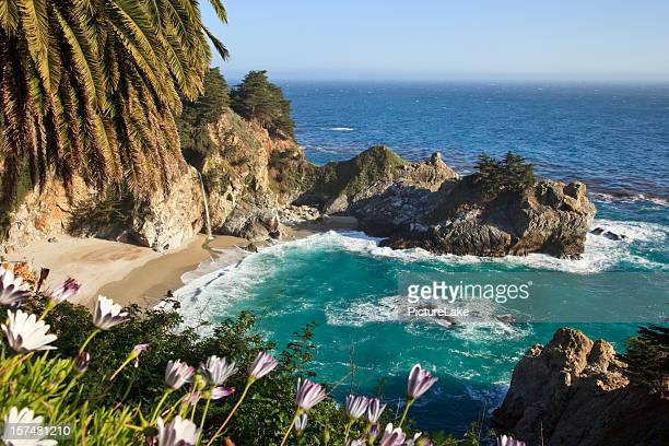 mcway falls, big sur, california - mcway falls stock pictures, royalty-free photos & images