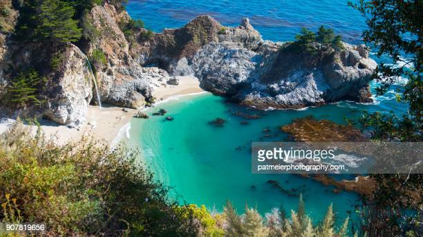 mcway falls big sur - mcway falls stock pictures, royalty-free photos & images