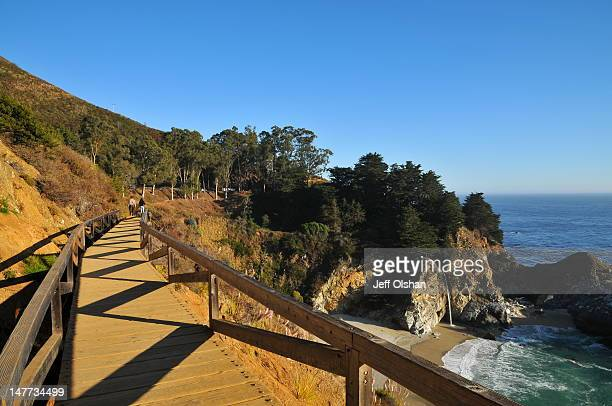 mcway falls boardwalk - mcway falls stock pictures, royalty-free photos & images