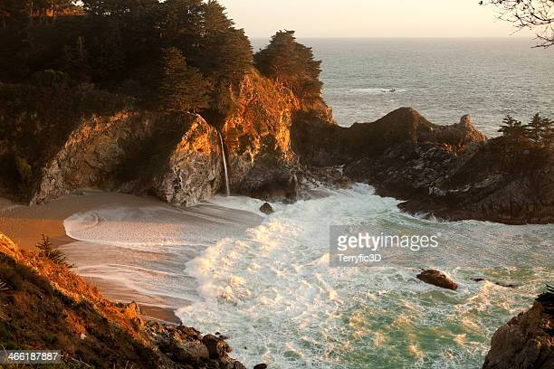 mcway falls evening light - mcway falls stock pictures, royalty-free photos & images