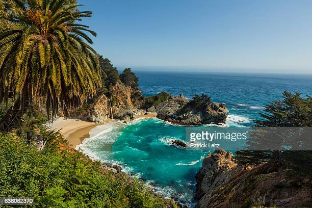mcway falls, julia pfeiffer burns state park, california - mcway falls stock pictures, royalty-free photos & images