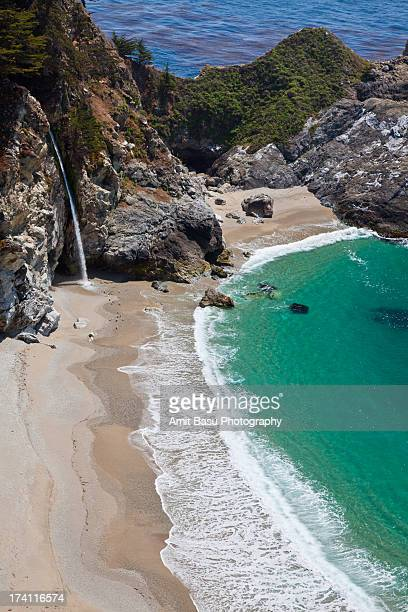 mcway falls, julia pfeiffer burns state park - amit basu stock pictures, royalty-free photos & images