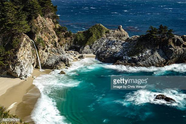 mcway falls long exposure - mcway falls stock pictures, royalty-free photos & images