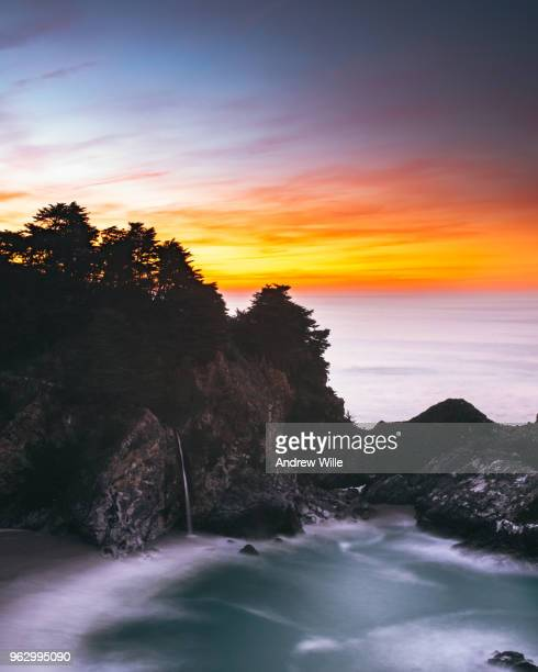 mcway falls sunrise - mcway falls stock pictures, royalty-free photos & images