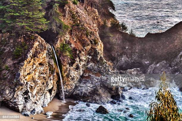 mcway falls,big sur,julia pfeiffer burns state park,california - mcway falls stock pictures, royalty-free photos & images