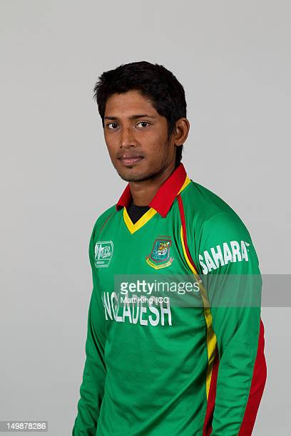 Md Anamul Haque Bijoy of Bangladesh poses during a ICC U19 Cricket World Cup 2012 portrait session at Allan Border Field on August 6 2012 in Brisbane...