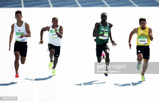 Md Jin Wei Timothee Yap of Singapore Kapririel Kitson of Micronesia Ismail Kamara of Sierra Leone and Md Fakhri Ismail of Brunei Darussalam compete...