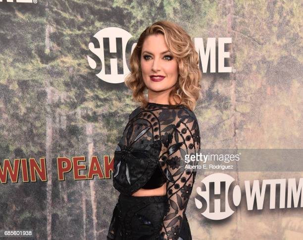 Mädchen Amick attends the premiere of Showtime's Twin Peaks at The Theatre at Ace Hotel on May 19 2017 in Los Angeles California