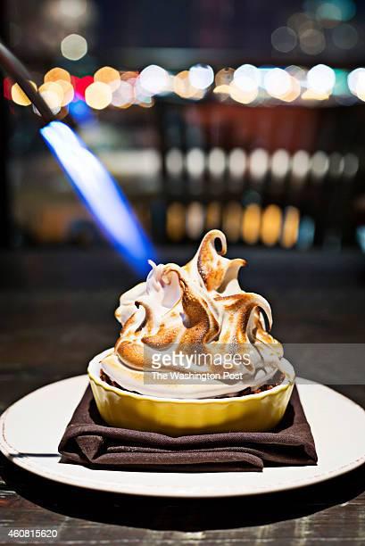 The Baked Alaska dessert at City Perch Restaurant in North Bethesda MD