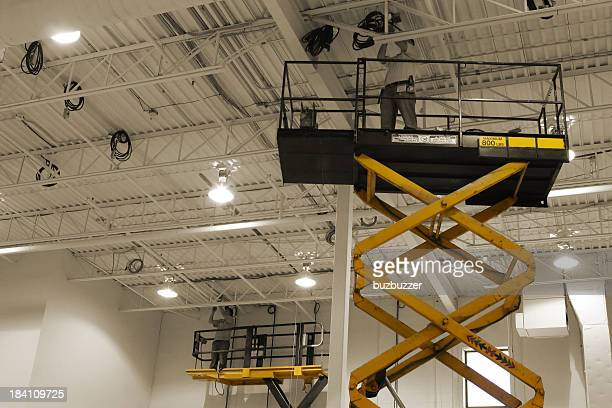 mdern maintenance works equipment - high up stock photos and pictures