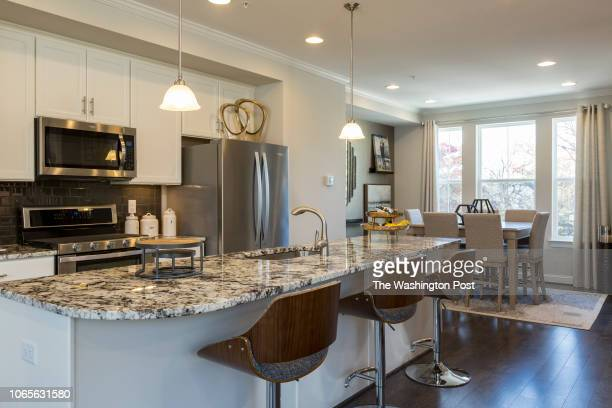 Kitchen in the model home at Annapolis Townes on November 20 2018 in Annapolis Maryland