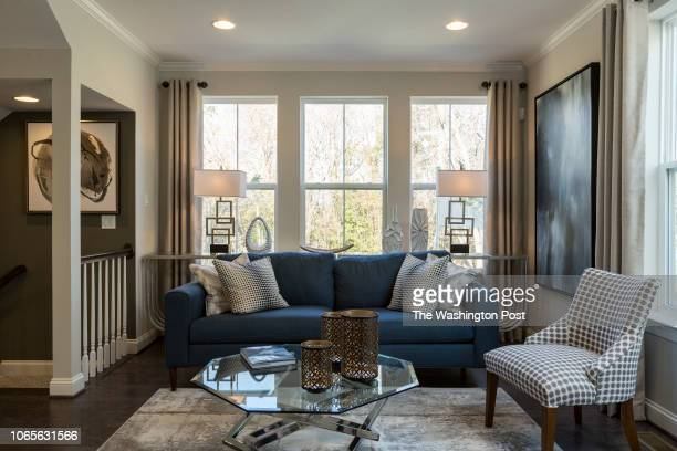 Living Room in the model home at Annapolis Townes on November 20 2018 in Annapolis Maryland