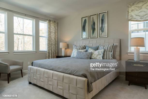 Master Bedroom in the model home at Annapolis Townes on November 20 2018 in Annapolis Maryland