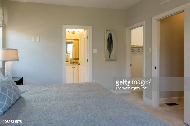 Master Bedroom with Bath and WalkInCloset in the model home at Annapolis Townes on November 20 2018 in Annapolis Maryland