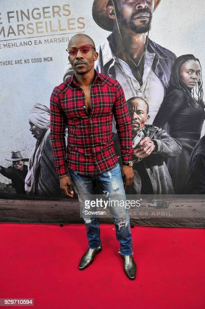 Mduduzi Mabaso during Five Fingers for Marseilles movie premiere at the Market Theatre on March 08 2018 in Johannesburg South Africa After its world...
