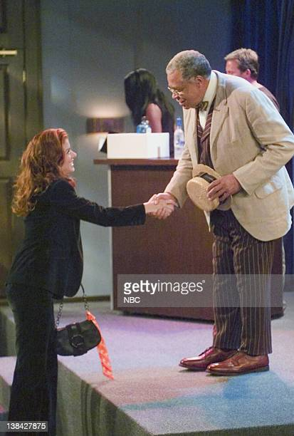 WILL GRACE 'Me and Mr Jones' Episode 4 Aired 10/16/03 Pictured Debra Messing as Grace Adler James Earl Jones as Himself