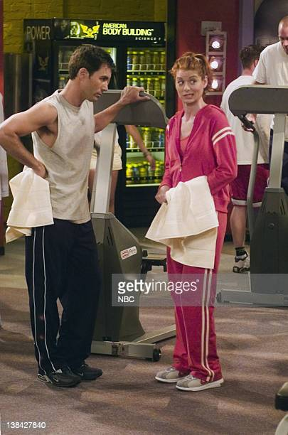 WILL GRACE 'Me and Mr Jones' Episode 4 Aired 10/16/03 Pictured Eric McCormack as Will Truman Debra Messing as Grace Adler