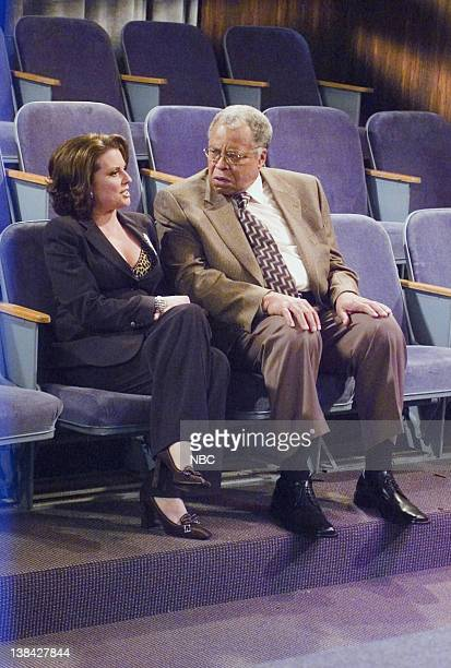 WILL GRACE 'Me and Mr Jones' Episode 4 Aired 10/16/03 Pictured Megan Mullally as Karen Walker James Earl Jones as Himself