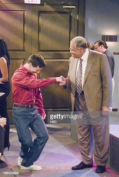 WILL GRACE 'Me and Mr Jones' Episode 4 Aired 10/16/03 Pictured Sean Hayes as Jack McFarland James Earl Jones as Himself