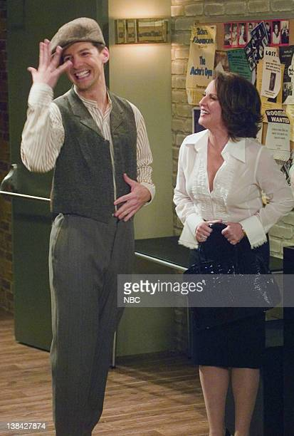 WILL GRACE 'Me and Mr Jones' Episode 4 Aired 10/16/03 Pictured Sean Hayes as Jack McFarland Megan Mullally as Karen Walker