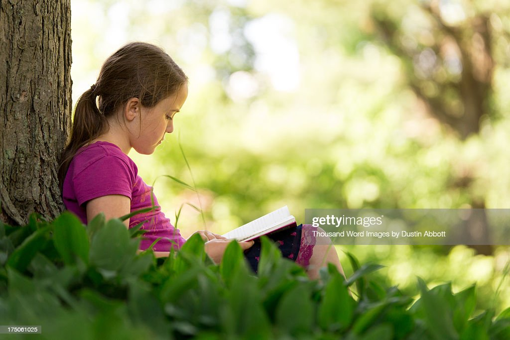 Me and My Book : Stock Photo