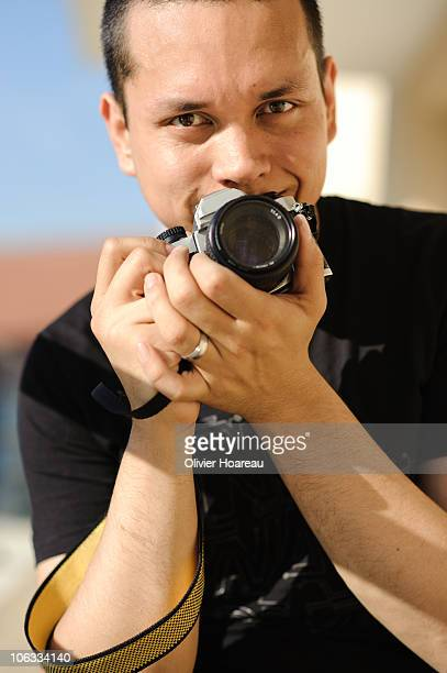 me and my camera - photographic film camera stock photos and pictures