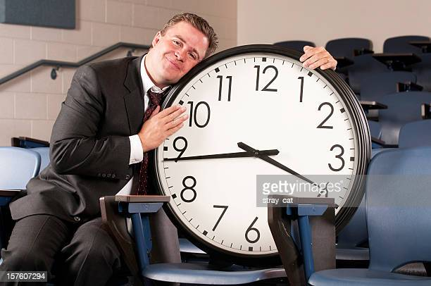me and my clock - time management stock photos and pictures
