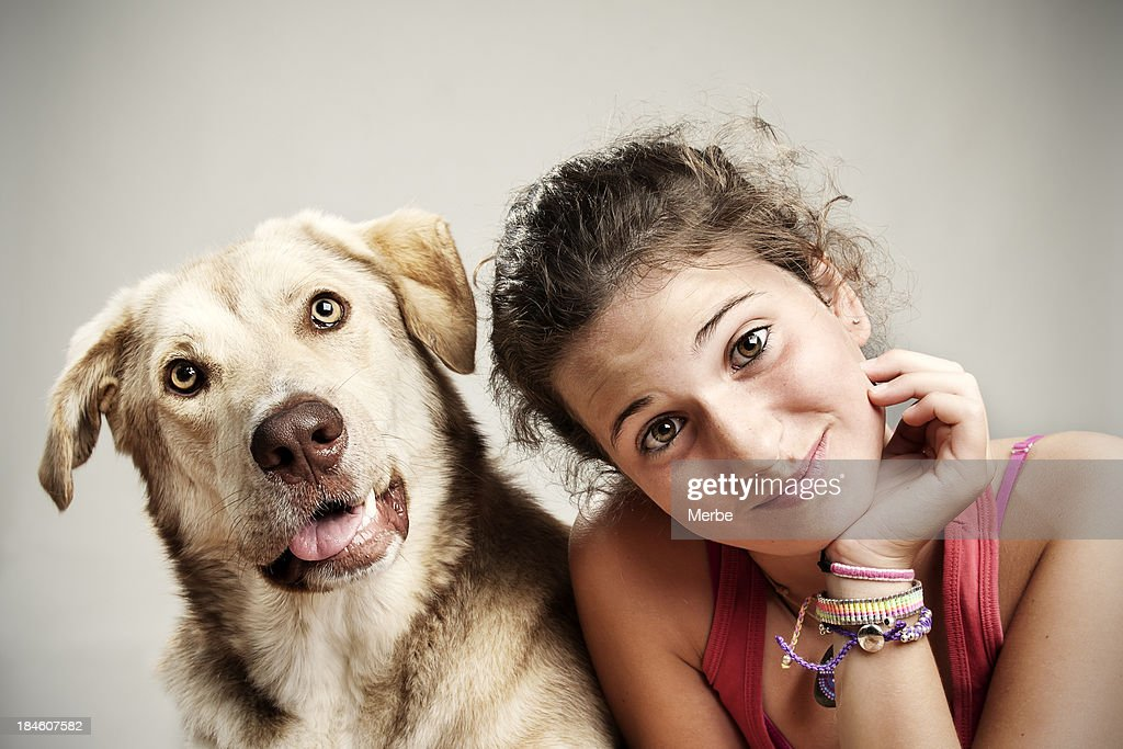 Me and my dog : Stock Photo