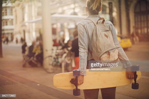 Mich und meine skateboard