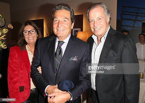 Me Beatrice Leeb Philippe Schaeffer and Michel Leeb attend the BNP Paribas Masters Day Seven at Palais Omnisports de Bercy on November 2 2014 in...