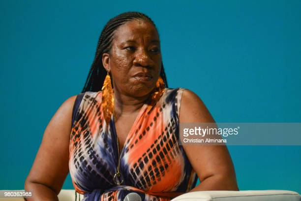 Me Too Founder Tarana Burke attends the Cannes Lions Festival 2018 on June 21 2018 in Cannes France