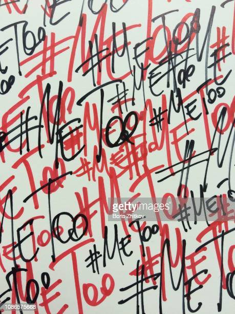 me too hashtag pattern - activist stock pictures, royalty-free photos & images
