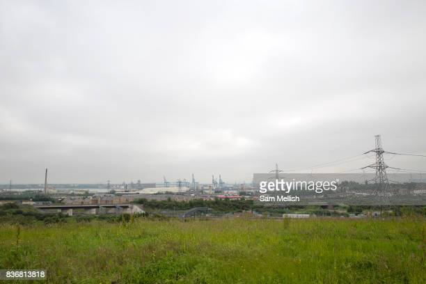 Meadow land proposed for a new public park over looking the Thames River on 09th July 2016 in Kent United Kingdom Ebbsfleet Development Corporation...