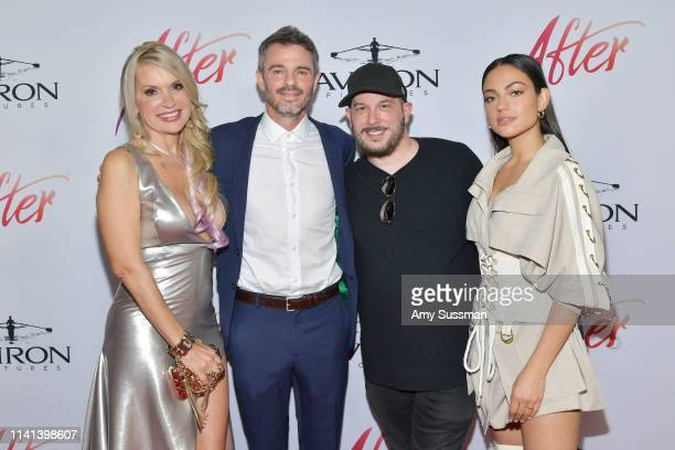 Meadow Williams Adam Silver Courtney Solomon and Inanna Sarkis attend the premiere of Aviron Pictures' After at The Grove on April 08 2019 in Los...