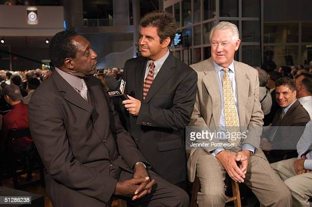 Meadowlark Lemon and John Havlicek being interviewd at the Naismith Memorial Basketball Hall of Fame on September 10th 2004 in Springfield...