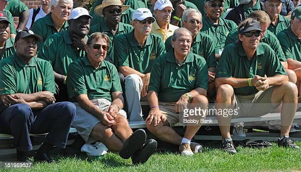 Meadowlark Lemon Joe Namath Dan Grimaldi and Kevin Sorbo attends the Joe NamathMarch of Dimes Celebrity Golf Classic at the Bethpage State Park Golf...
