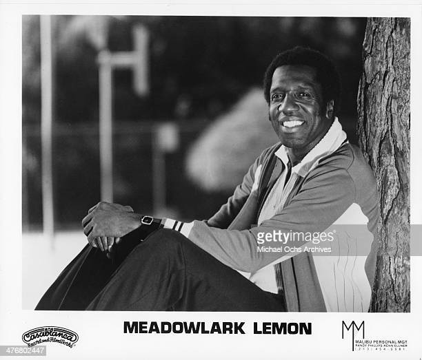 Meadowlark Lemon of the Harlem Globetrotters poses for a portrait circa 1970's Lemon played with the Globetrotters from 19551980
